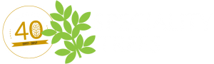 Speciality Trees 40 Years logo