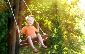 Speciality Trees Boy on Swing